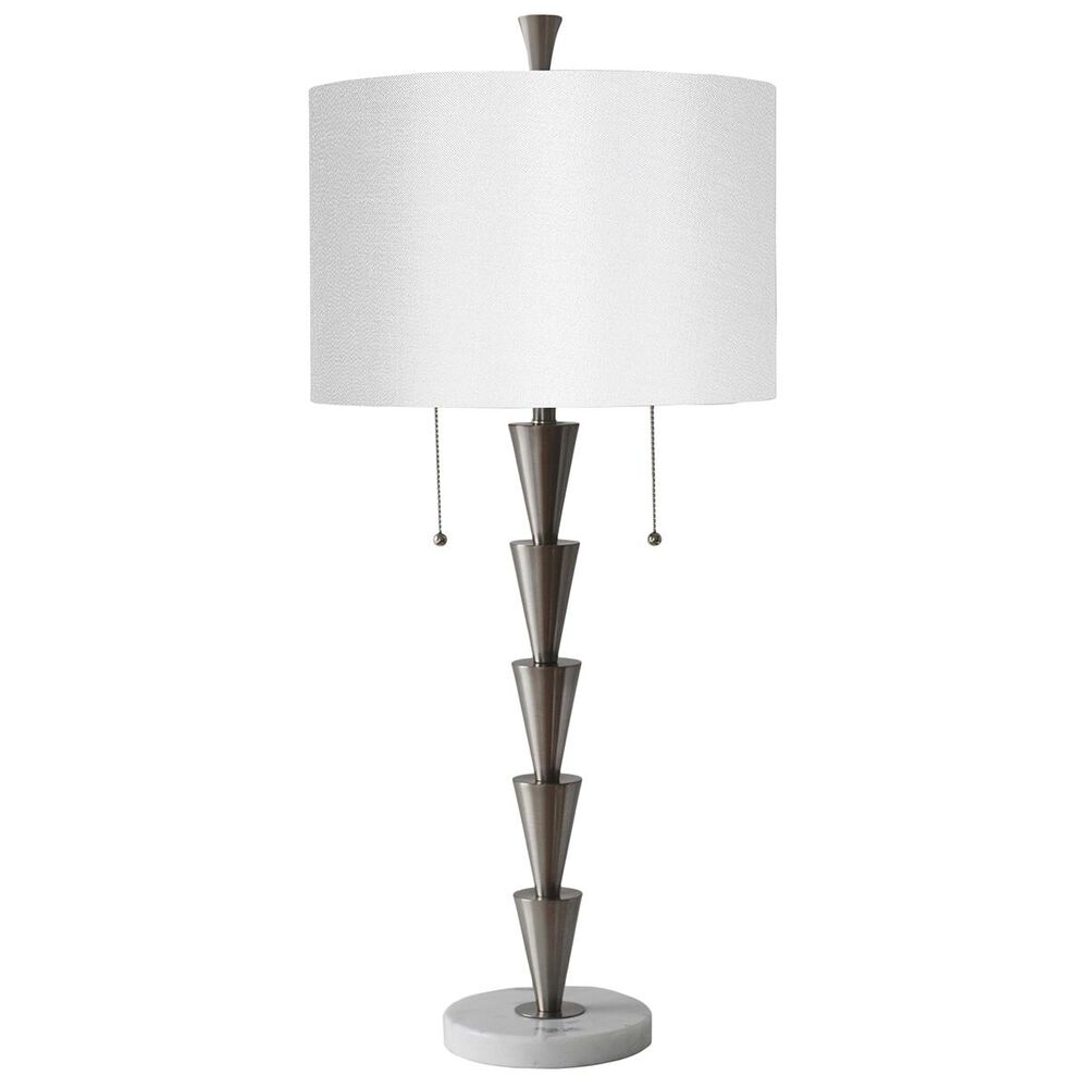 """Sagebrook Home 34"""" Pull-Chain Table Lamp in Silver, , large"""