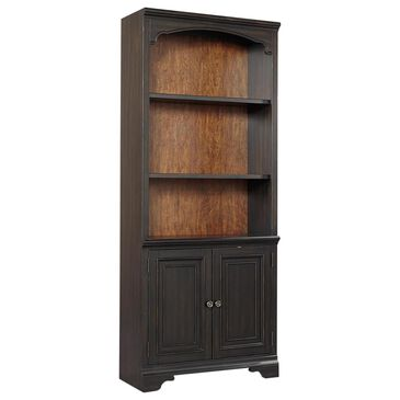 Riva Ridge Hampton Door Bookcase in Black Cherry- 1 Door Bookcase only, , large