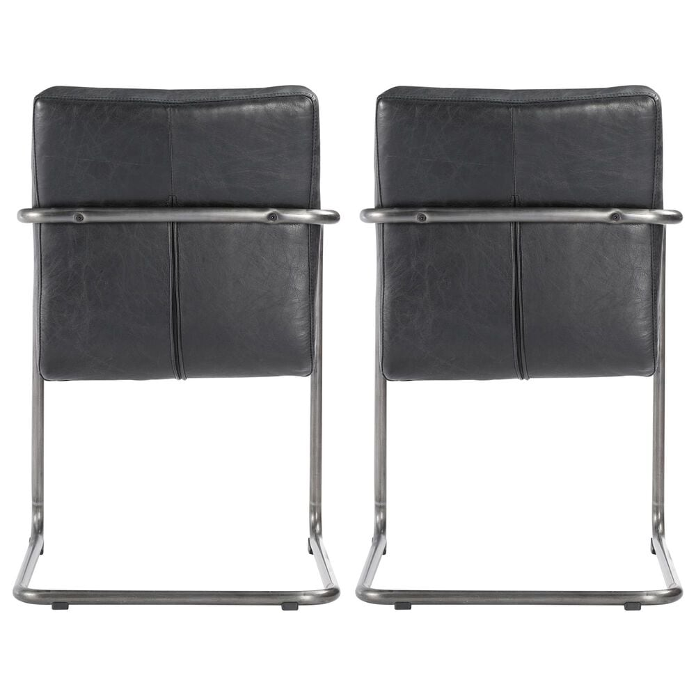 Moe's Home Collection Ansel Arm Chair in Black (Set of 2), , large