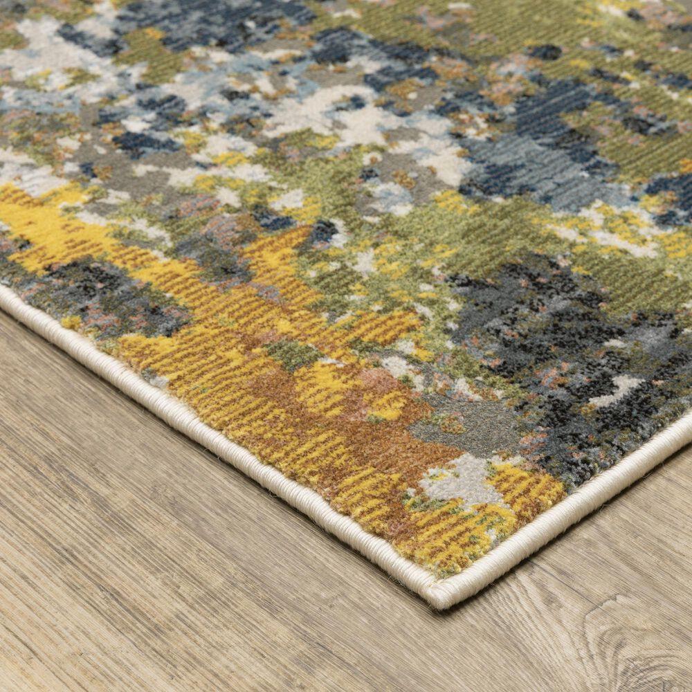 "Oriental Weavers Caravan Abstract Painted 9'10"" x 12'10"" Multicolor Area Rug, , large"
