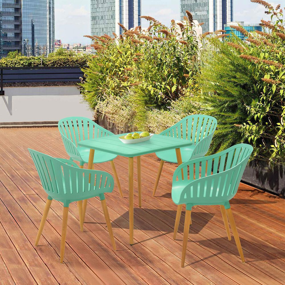 Blue River Nassau Patio Dining Table in Mint Green Eucalyptus, , large