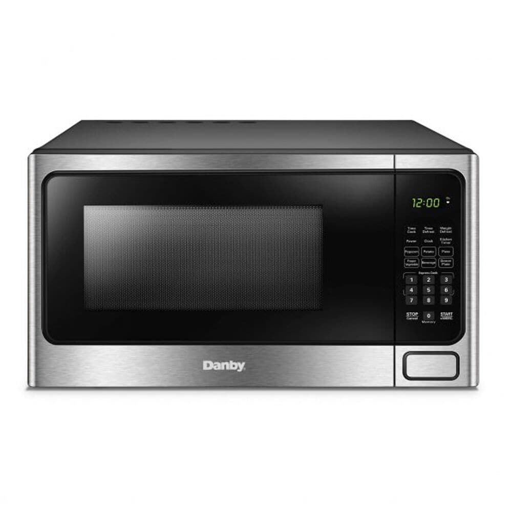 Danby 1.1 Cu. Ft. Countertop Microwave Oven in Stainless Steel, , large
