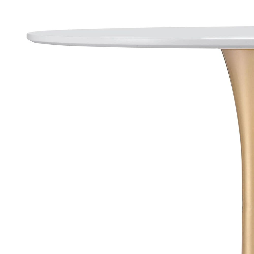 Zuo Modern Opus Dining Table in White/Gold, , large