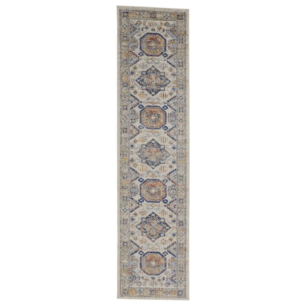Feizy Rugs Bellini 2' x 8' Gold and Orange Runner, , large