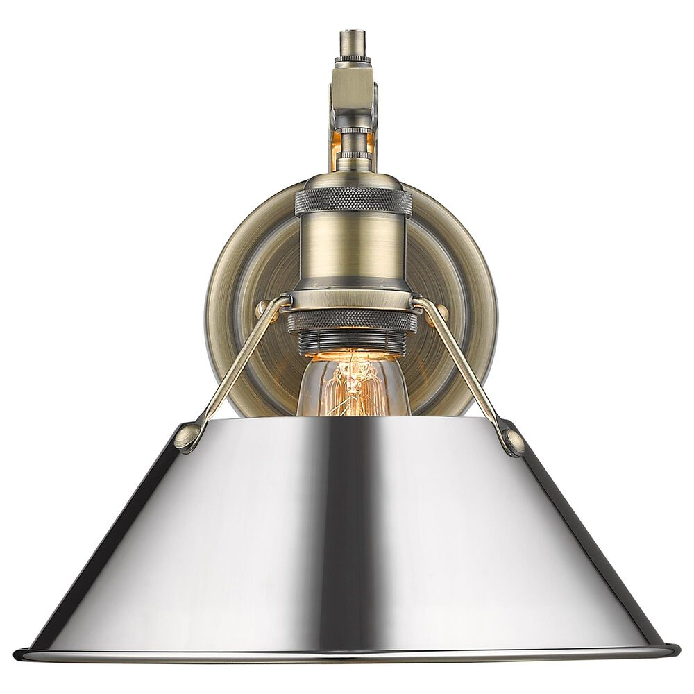 Golden Lighting Orwell 1-Light Wall Sconce in Aged Brass, , large