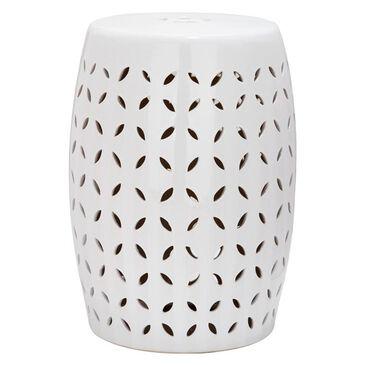 "Safavieh 18.5"" Ceramic Garden Stool in White, , large"