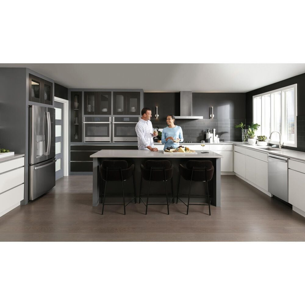 """GE Profile 5.0 Cu. Ft. Smart Built-In Convection Single Wall Oven and 30"""" Built-In Touch Control Induction Cooktop in Stainless Steel, , large"""