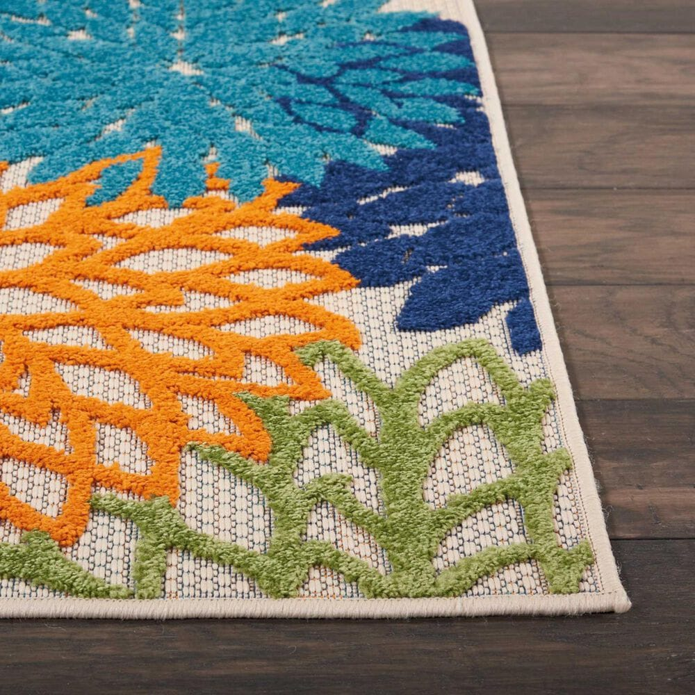 "Nourison Aloha ALH05 9'6"" x 13' Multicolor Indoor/Outdoor Rug, , large"