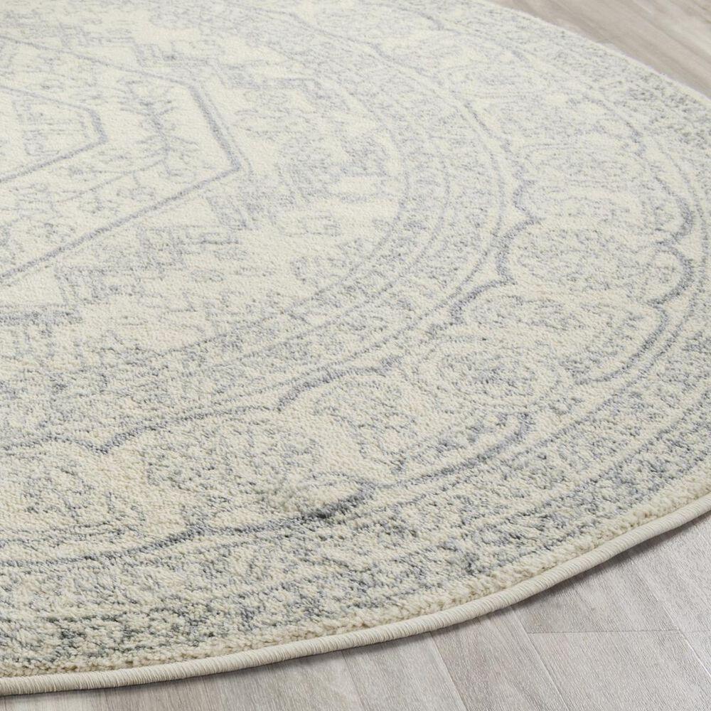 Safavieh Adirondack ADR108S 6' Round Ivory and Slate Area Rug, , large