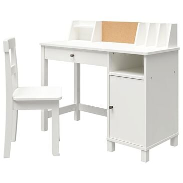 DHP Leah Kids Desk with Chair in White, , large