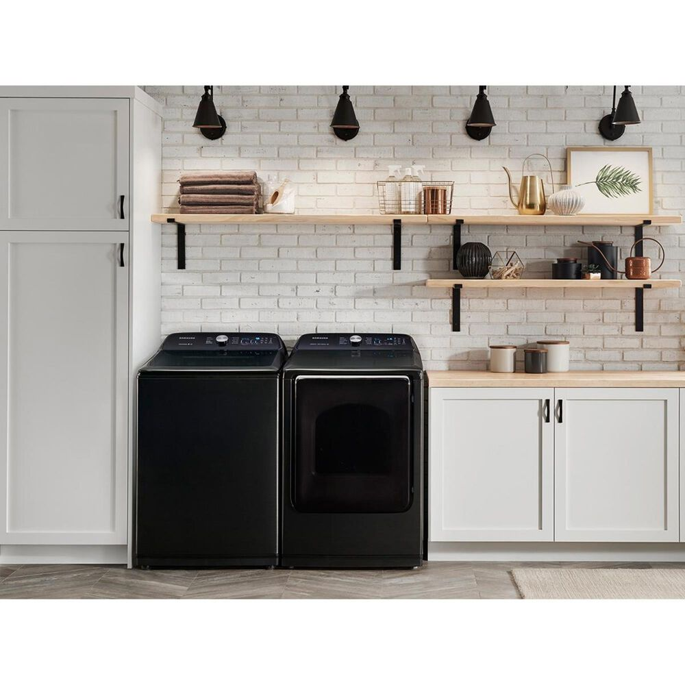 Samsung 7.4 Cu. Ft. Gas Front Load Dryer in Black Stainless Steel, , large