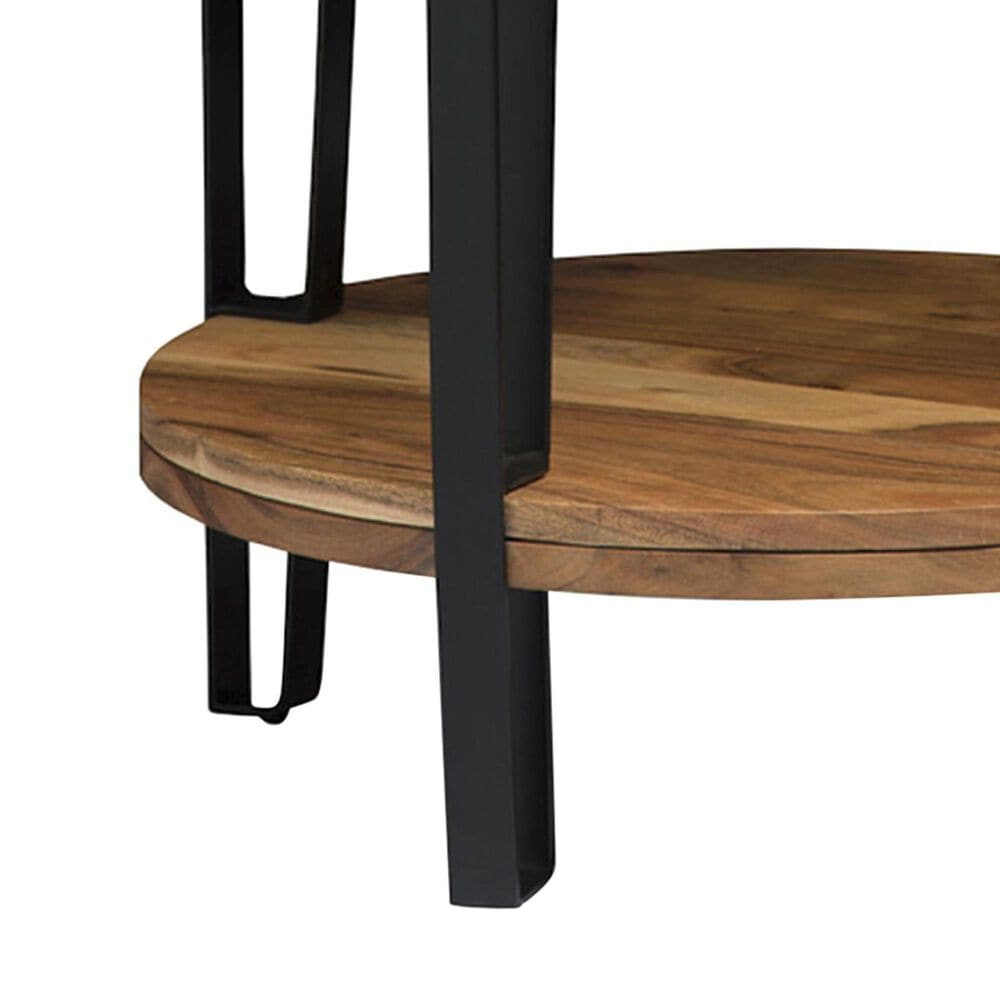 Bolton Furniture Ryegate Round End Table in Natural, , large