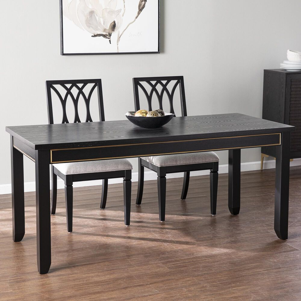 Southern Enterprises Marradi Dining Table in Black/Gold, , large