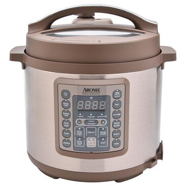 Englewood Aroma Professional 6 Qt. Digital Pressure Cooker in Champagne and Stainless Steel, , large