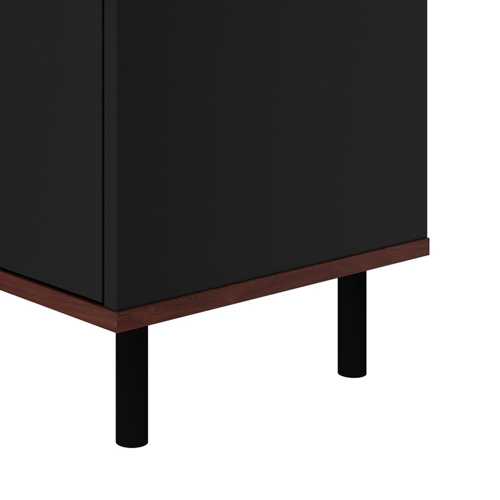 Dayton Mosholu 2 Shelf Nightstand in Black/Nut Brown, , large