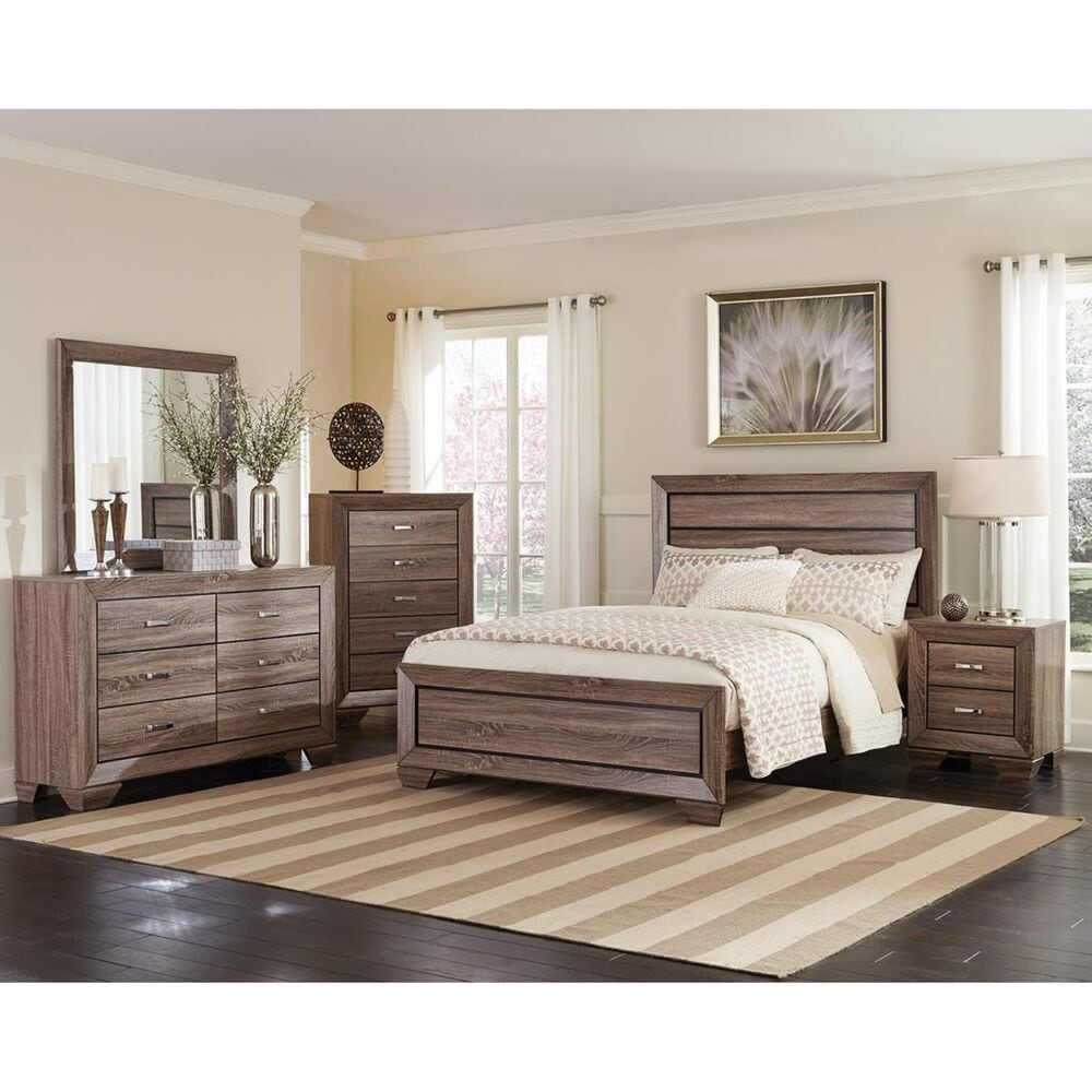 Pacific Landing Kauffman King Bed in Washed Taupe, , large