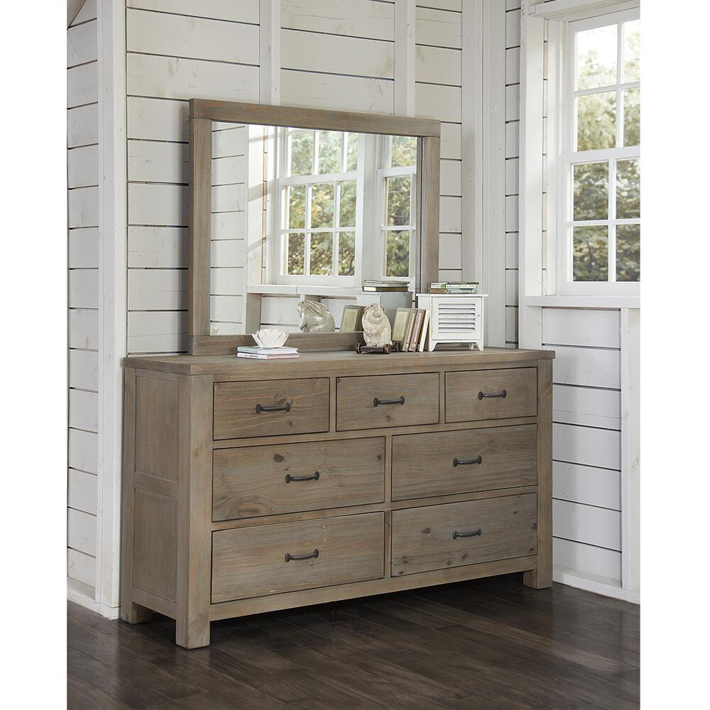 Richlands Furniture Highlands 7-Drawer Dresser in Driftwood, , large