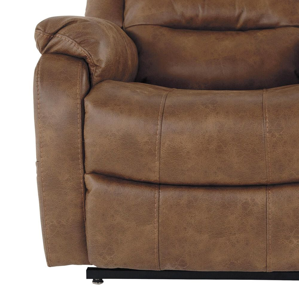 Signature Design by Ashley Yandel Power Lift Recliner in Saddle, , large