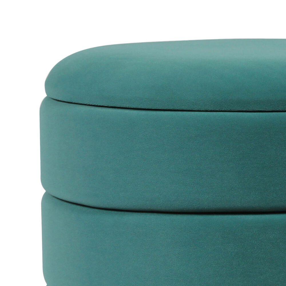 Tov Furniture Saturn Storage Ottoman in Teal (Set of 2), , large