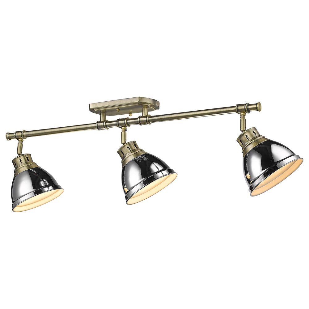 Golden Lighting Duncan Semi-Flush in Aged Brass and Chrome, , large