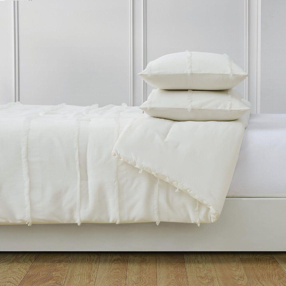 Pem America Kristen 3-Piece Full/Queen Duvet Set in White, , large