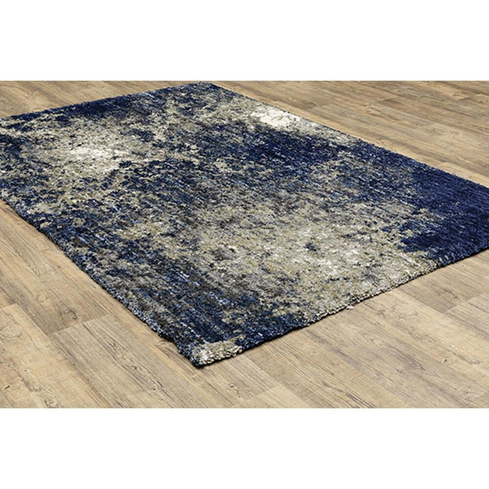 """Oriental Weavers Aspen Abstract Shag 2060L 3'10"""" x 5'5"""" Blue and Gray Area Rug, , large"""