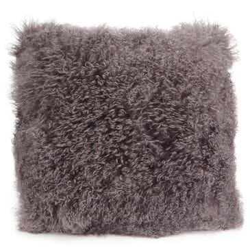 Moe's Home Collection Lamb Fur Pillow in Grey, , large