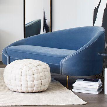 Moe's Home Collection Abigail Chaise in Blue, , large