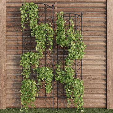 Timberlake Pure Garden Climbing Plant Panel in Black (Set of 2), , large