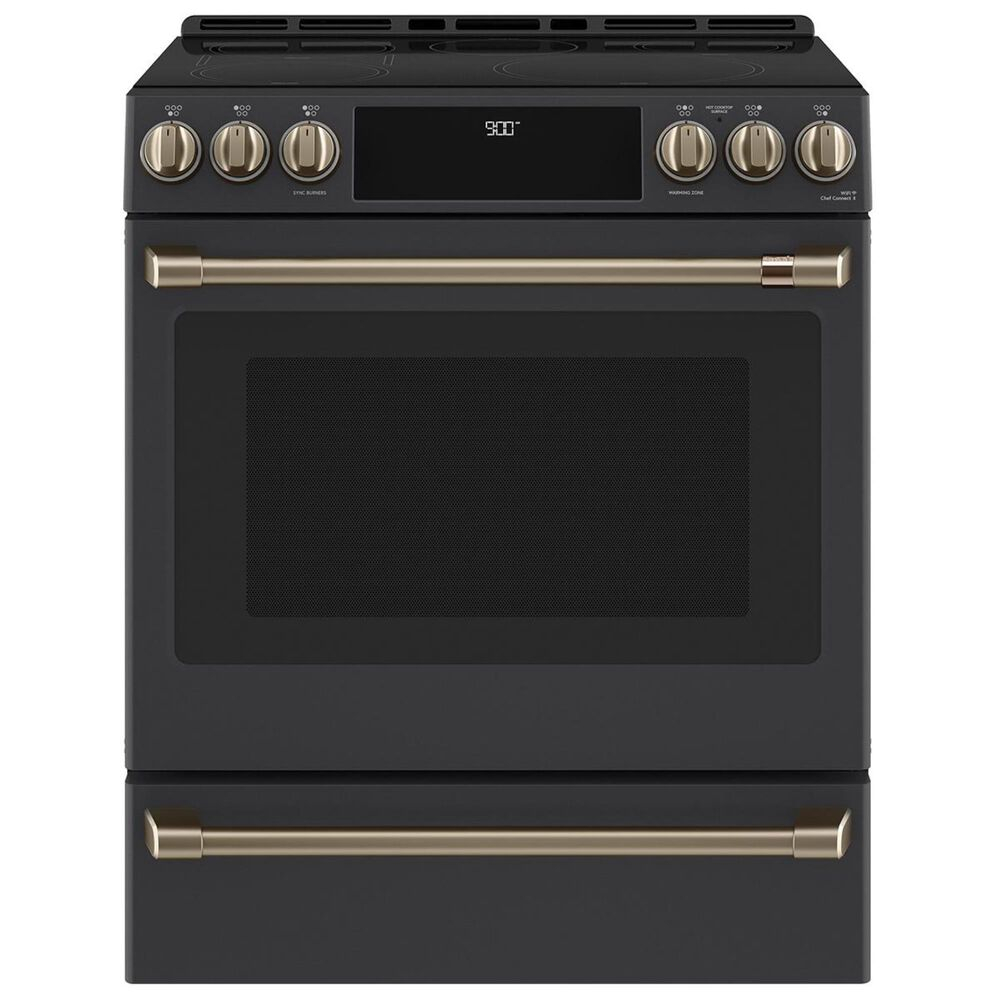 Cafe Handle and Knob Kit for Electric Range in Brushed Bronze, , large