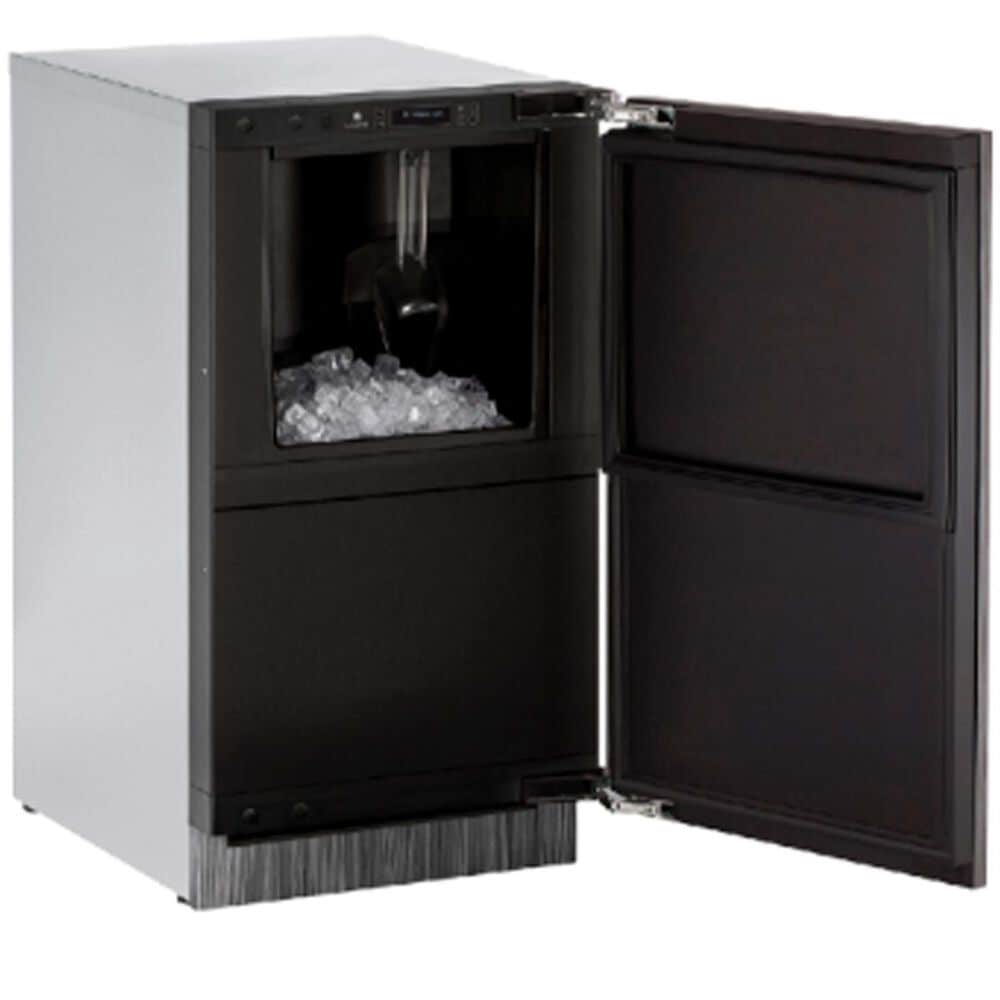 """U-Line 18"""" Integrated Solid Ice Machine Field Reversible Door with Pump Included , , large"""