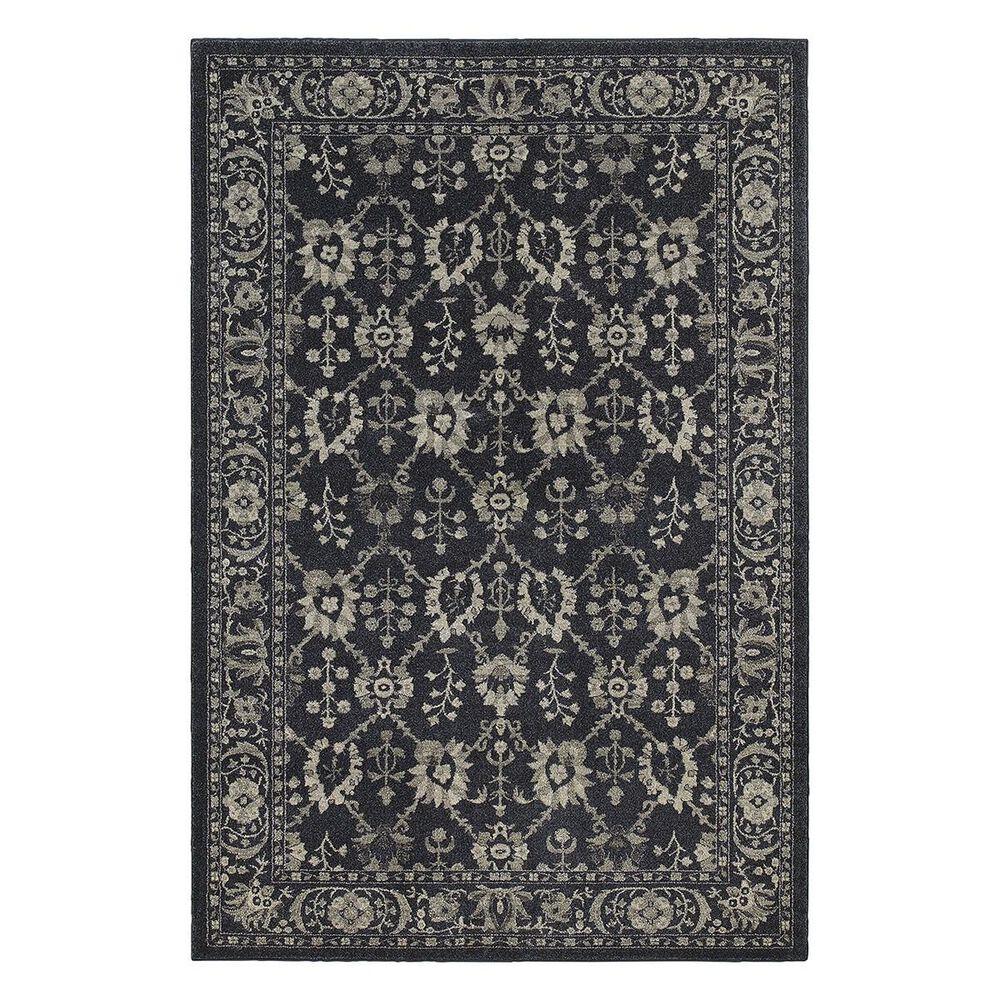 "Oriental Weavers Richmond 8020K 6'7"" x 9'6"" Black Area Rug, , large"