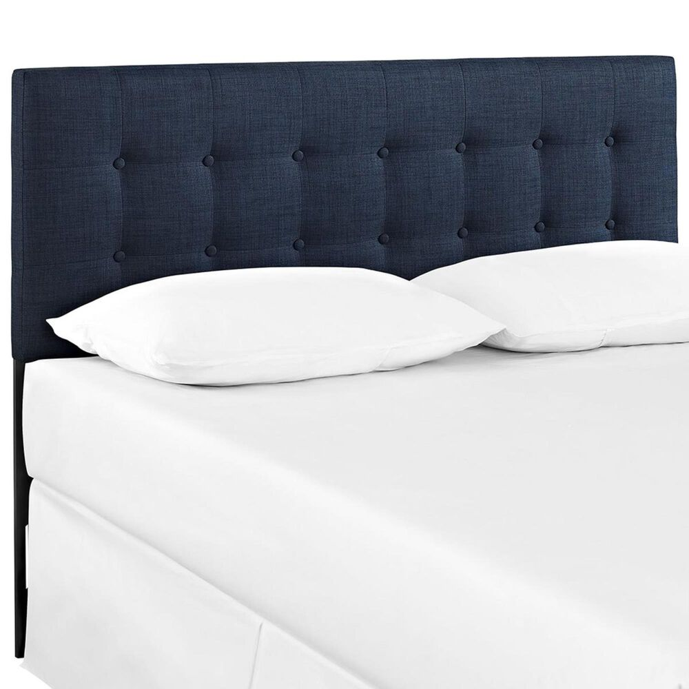 Modway Emily Queen Fabric Headboard in Navy, , large