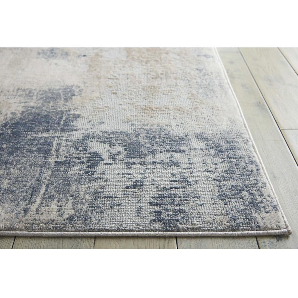 """Nourison Rustic Textures RUS02 2'2"""" x 7'6"""" Beige and Grey Runner, , large"""