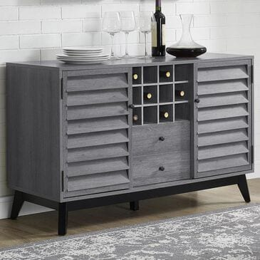 DHP Orchard Point Server with Wine Storage in Gray Oak, , large