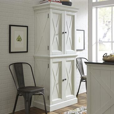 Home Styles Seaside Lodge Kitchen Pantry in Hand Rubbed White, , large