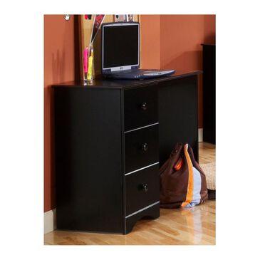 Lemoore 3 Drawer Desk in Solid Black, , large