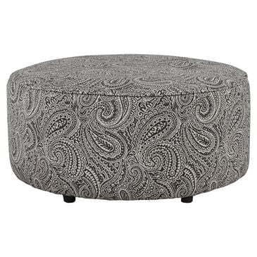 Xenia Round Ottoman in Regency Iron, , large