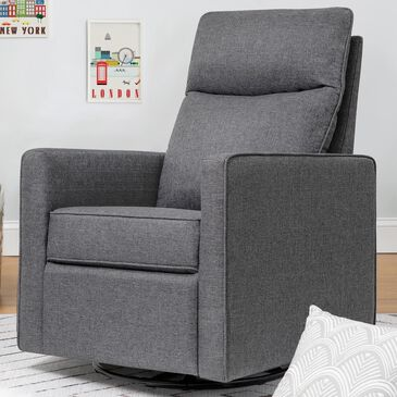 New Haus Gabby Pillowback Swivel Glider in Shadow Grey, , large