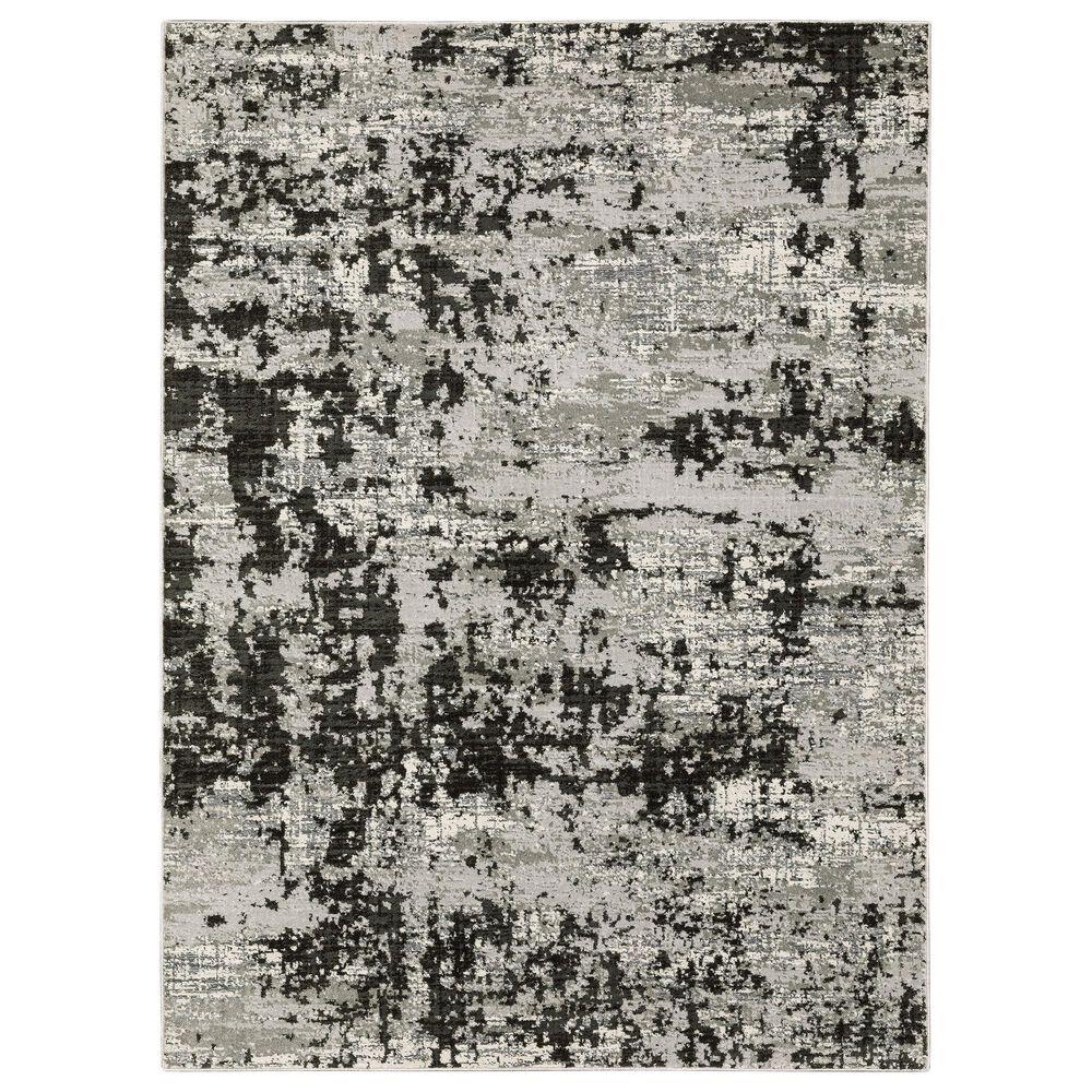 "Oriental Weavers Caravan Greyed Out 6'7"" x 9'6"" Grey and Black Area Rug, , large"