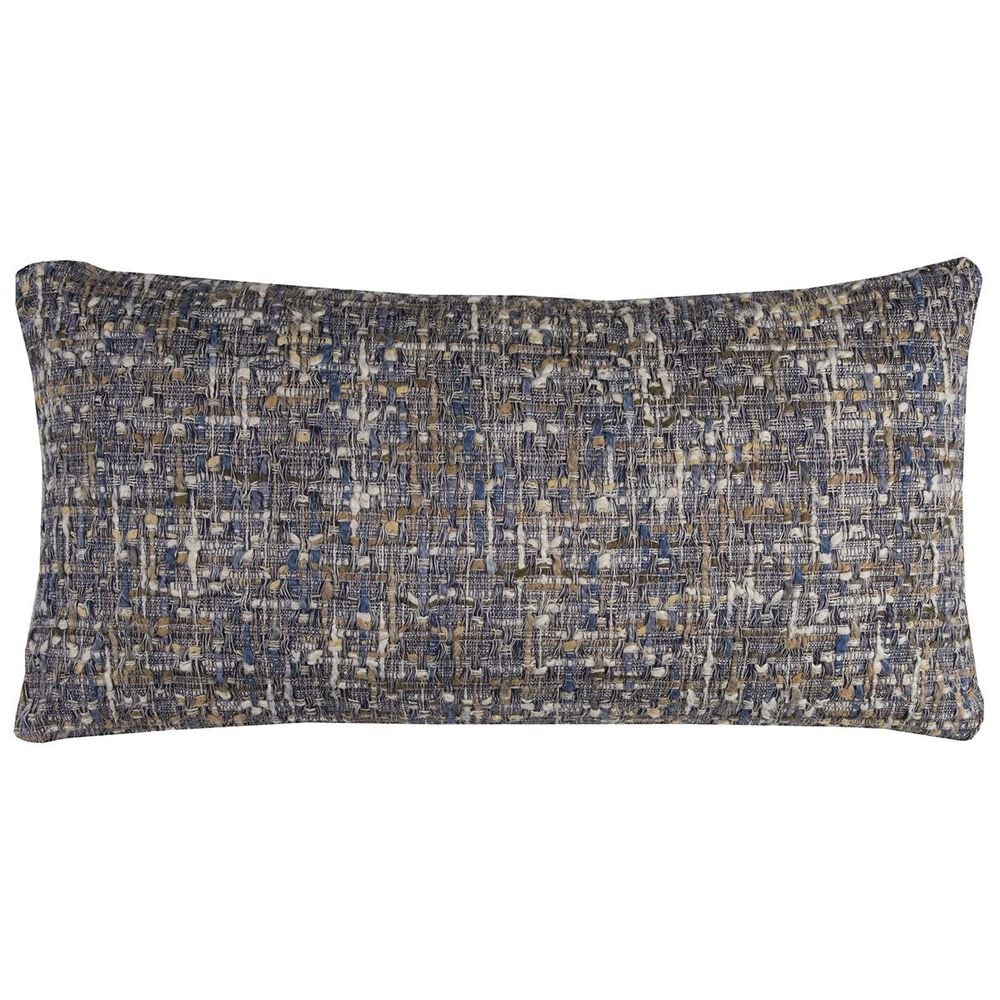 """Rizzy Home 14"""" x 26"""" Down Pillow in Blue, , large"""