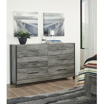 Signature Design by Ashley Cazenfeld 6 Drawer Dresser in Rustic Warm Gray, , large