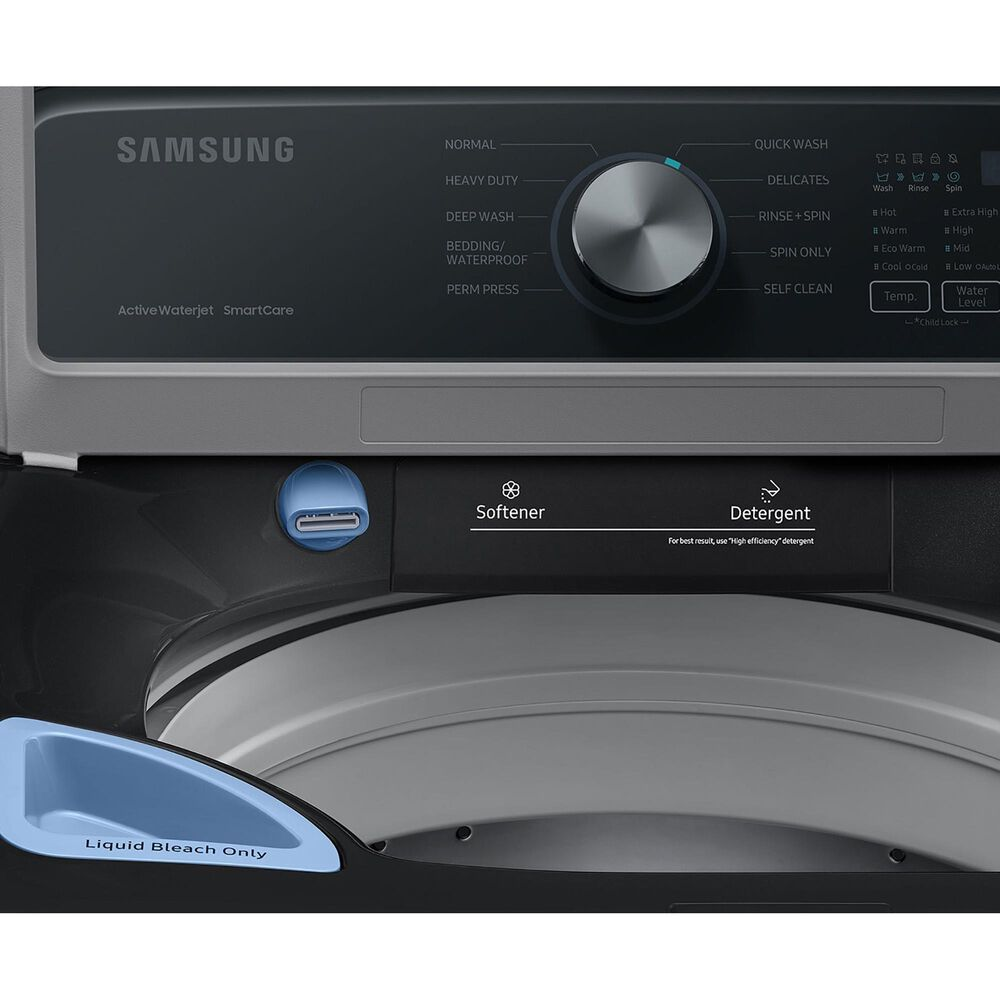 Samsung 4.4 Cu. Ft. Top Load Washer with Active Wave Agitator in Brushed Black, , large
