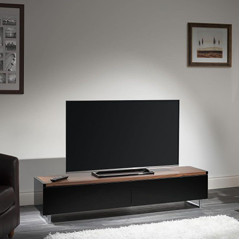 "AVF Group Panorama 70"" TV Stand in Walnut and Black, , large"