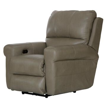 Hartsfield Torretta Leather Power Lay Flat Recliner in Putty, , large