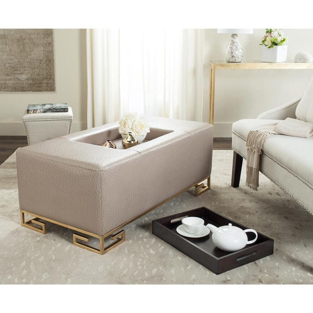 Safavieh Julian Tray Ottoman and Coffee Table in Taupe, , large