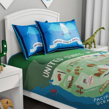 Timberlake Hastings Home Twin XL 50 States Map Comforter Set, , large