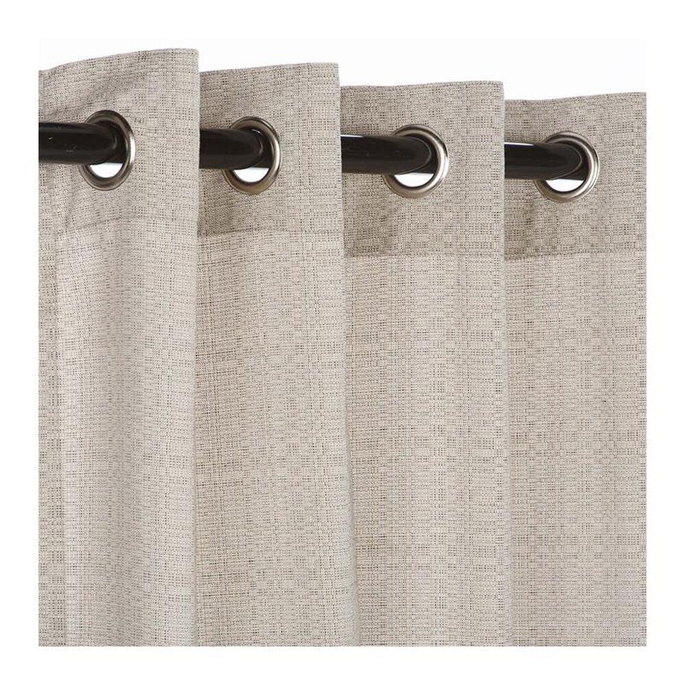 "The Hammock Source Sunbrella 50"" x 108"" Outdoor Curtain Grommet Panel in Linen Silver, , large"