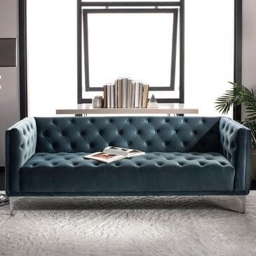 Safavieh Florentino Sofa in Dusty Blue, , large