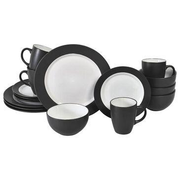 Pfaltzgraff Harmony 16-Piece Dinnerware Set in Charcoal, , large